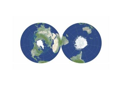 Учёные разработали двустороннюю плоскую проекцию, которая позволяет уменьшить искажения на картах