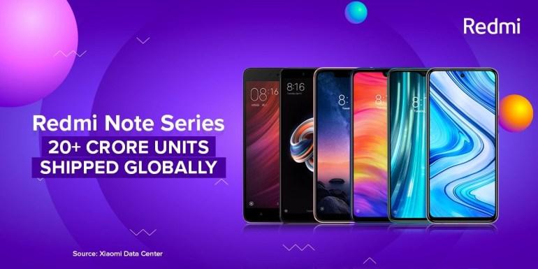 Xiaomi похвасталась тем, что взяла третье место на мировом рынке смартфонов и продала уже свыше 200 миллионов смартфонов Redmi Note (за семь лет)
