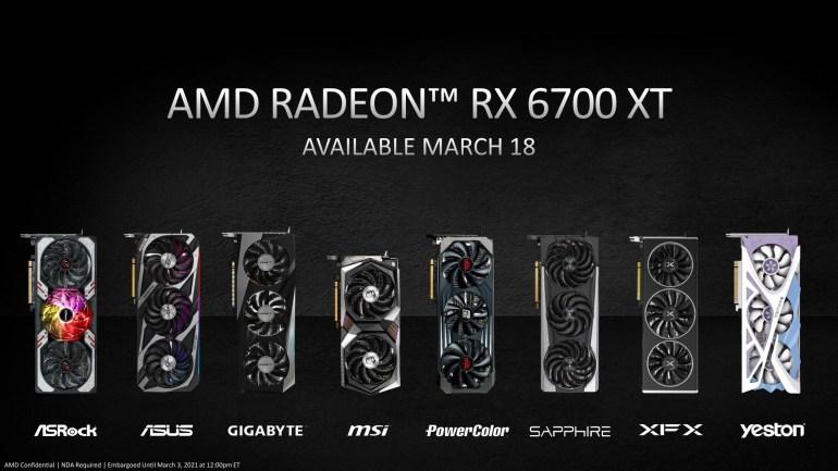 AMD анонсировала Radeon RX 6700 XT — видеокарту для 1440p-гейминга за 480 долларов