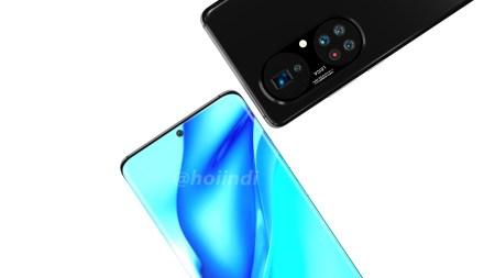 Рендеры Huawei P50 Pro+ демонстрируют огромный блок из пять камер в двух областях