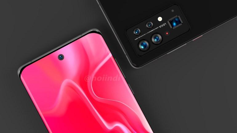 Предполагаемые изображения Huawei P50 Pro+ свидетельствуют, что у смартфона будет 5 камер на задней панели, разделённых на два блока