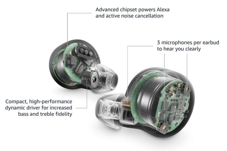 Amazon представила второе поколение беспроводных наушников Echo Buds с активным шумоподавлением, поддержкой Alexa и ценником от $99