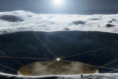 NASA продолжает развивать проект гигантского радиотелескопа LCRT на обратной стороне Луны