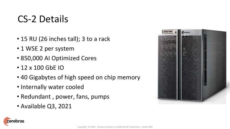 Cerebras выпустила второе поколение самого крупного в мире чипа WSE-2: 7-нм техпроцесс, 850 тыс. ядер и 2,6 трлн транзисторов