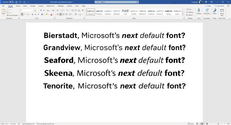 Microsoft выбирает новый шрифт по умолчанию для Office, и пользователи смогут повлиять на решение