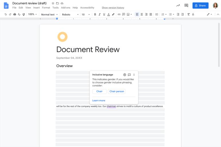Google внедряет в Workspace «умные чипы», они позволяют интегрировать различные компоненты офисного пакета в едином документе
