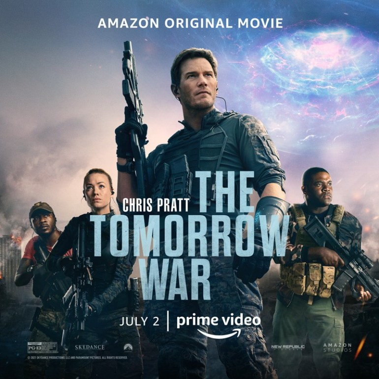 Первый трейлер фантастического боевика The Tomorrow War / «Война будущего» с Крисом Прэттом в главной роли (премьера на Amazon - 2 июля 2021 года)