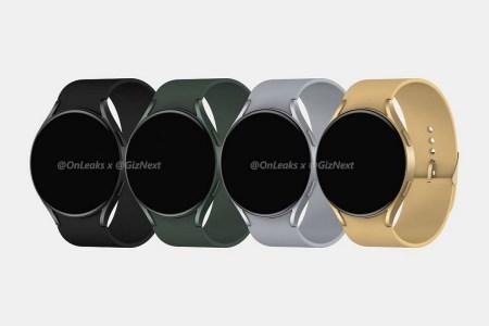 В сети появились рендеры умных часов Samsung Galaxy Watch Active4 с «безрамочным» экраном и двумя физическими кнопками справа
