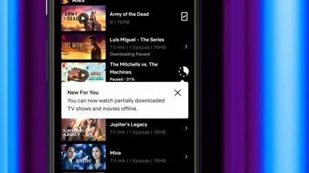 Netflix разрешил смотреть частично загруженный контент — пока только на Android