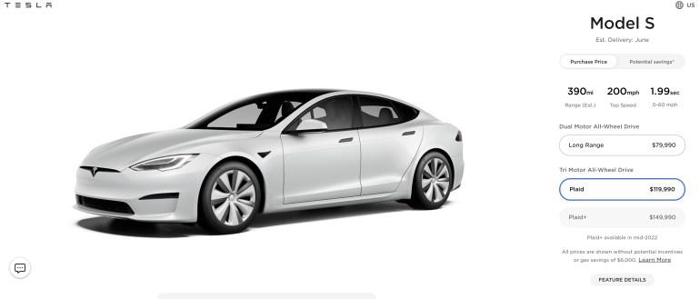 Илон Маск сообщил, что Tesla отменила дальнобойную Model S Plaid+ с запасом хода 840 км, поскольку базовая Plaid «и так достаточно хороша»