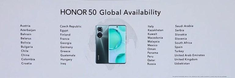 Представлена серия Honor 50 — Snapdragon 778G, 100-ваттная зарядка и возвращение сервисов Google