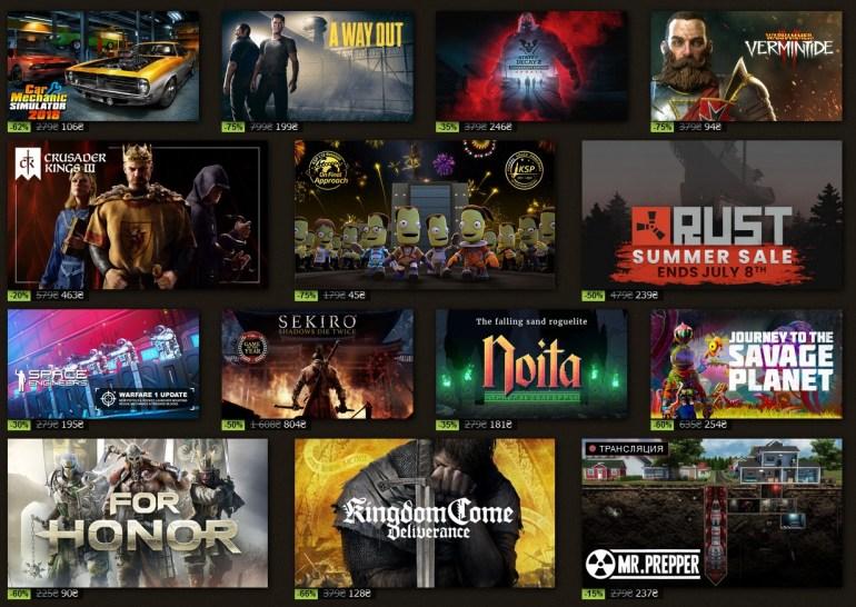 """В Steam стартовала """"Летняя Распродажа"""" / """"Summer Sale 2021"""", она продлится с 24 июня по 8 июля"""