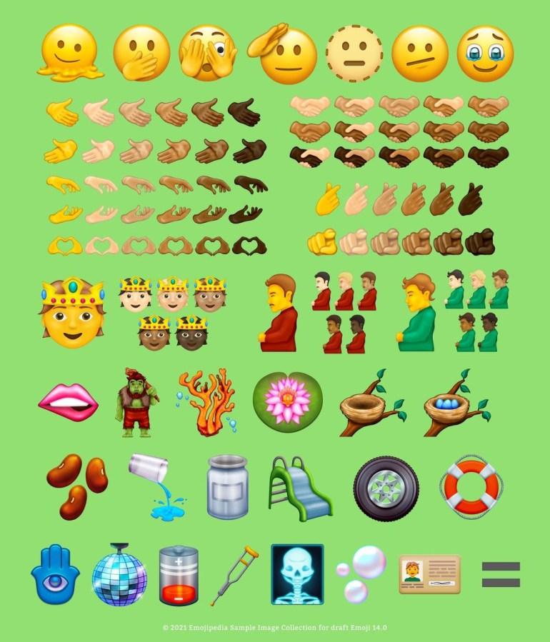 Emojipedia показала эмодзи, которые могут появиться в наборе Emoji 14.0, а Adobe рассказала о самых популярных эмодзи 2021 года