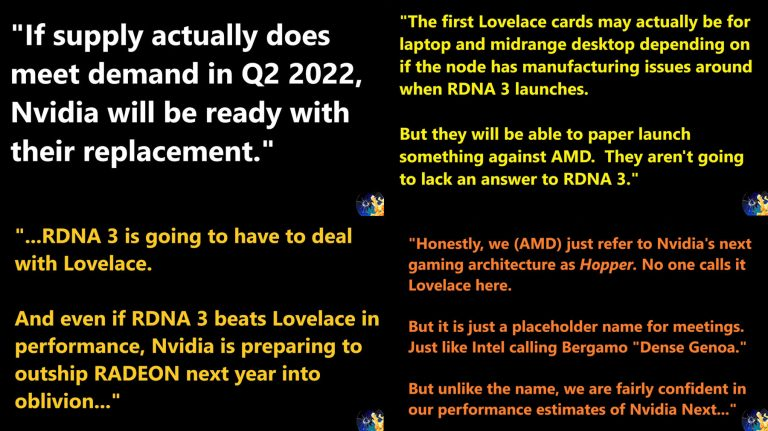 Видеокарты NVIDIA GeForce RTX 40 с архитектурой Ada Lovelace появятся в конце 2022 года и получат GPU на базе 5-нм техпроцесса