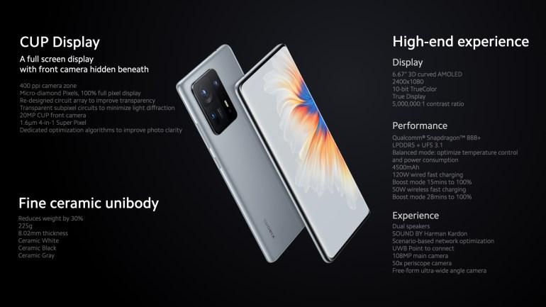 Xiaomi Mix 4 представлен — это первый смартфон компании с подэкранной камерой