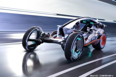 Фотогалерея дня: Концепты футуристических электромобилей MG MAZE и R RYZR для фанатов гейминга и автоспорта