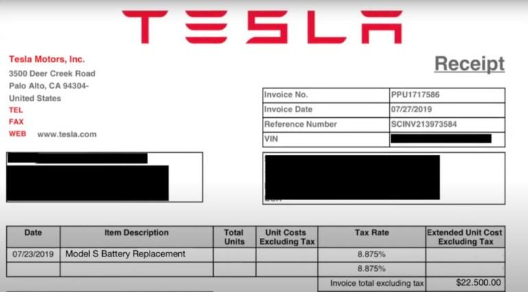 Владелец Tesla отремонтировал аккумуляторы электрокара за $5000, хотя производитель просил $22500 за их замену