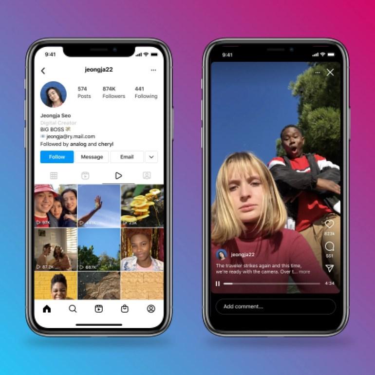 Instagram меняет подход к IGTV: приложение переименовано в Instagram TV, в ленте теперь можно публиковать более длинные ролики