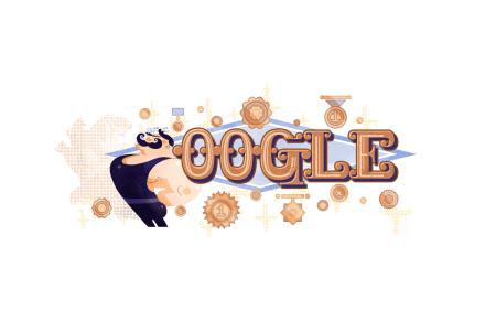 Google присвятив сьогоднішній дудл 150-річчю від дня народження українського силача Івана Піддубного