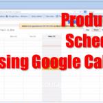 using google calendar