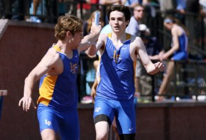 Gavin Hoch's only relay carry of the outdoor season took him less than 50 seconds.