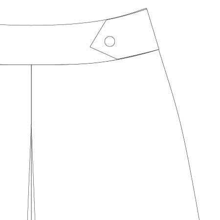 Emily Culottes PDF Pattern Waist Tab Option