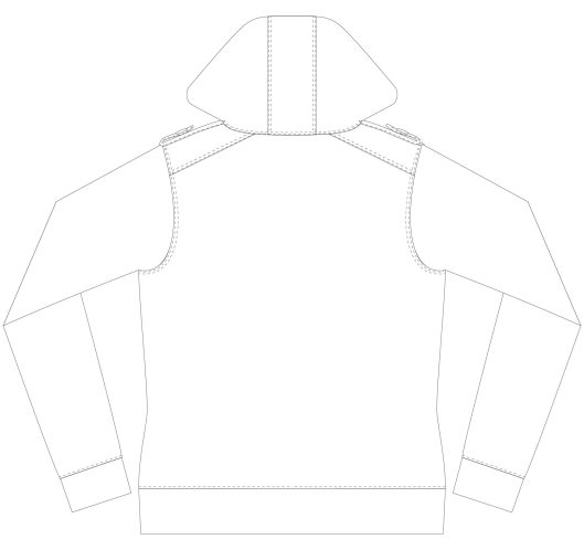 Itch To Stitch Jacqueline Hoodie PDF Sewing Pattern Line Drawing Back