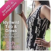 Itch to Stitch Digital Sewing Pattern Ad Idyllwild 3 300 x 300