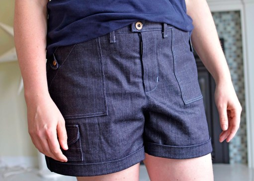 Angelia Shorts PDF Sewing Pattern - View B