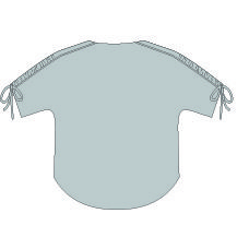 Carey Top PDF Sewing Pattern Line Drawing Back View
