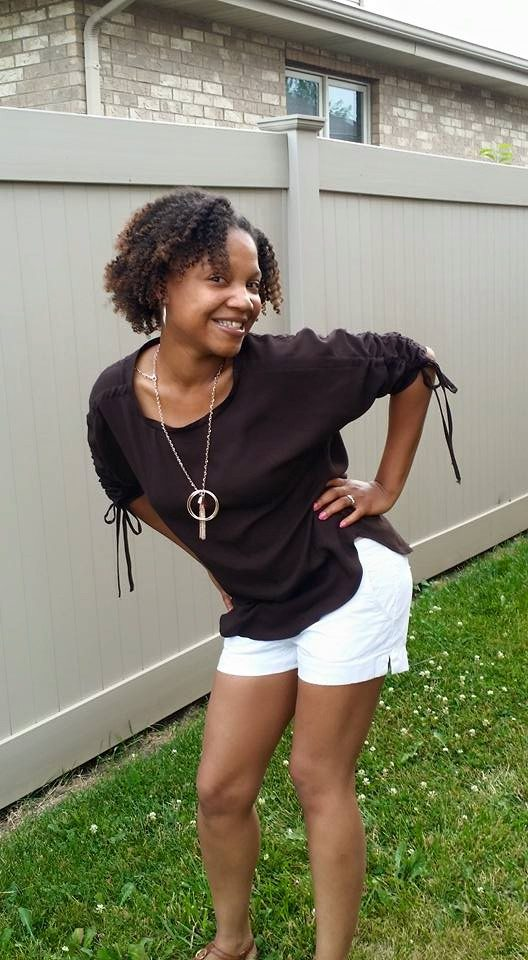 Latonya in her Carey Top - PDF Sewing Pattern