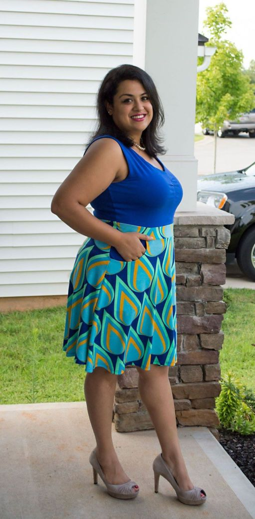 Itch to Stitch Davina Dress PDF Sewing Pattern - Color Blocking