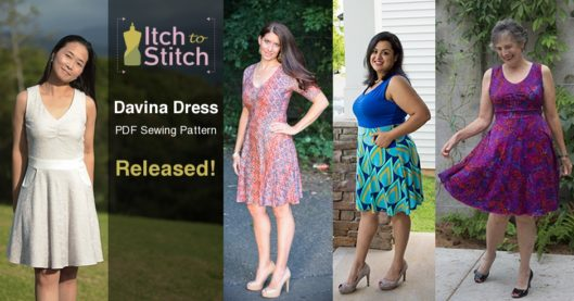 Itch to Stitch Davina Dress PDF Sewing Pattern Release Featured Post
