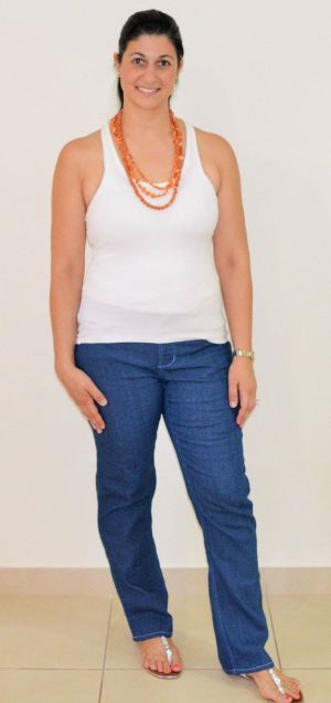 Liana Stretch Jeans Straight Legs by Angie