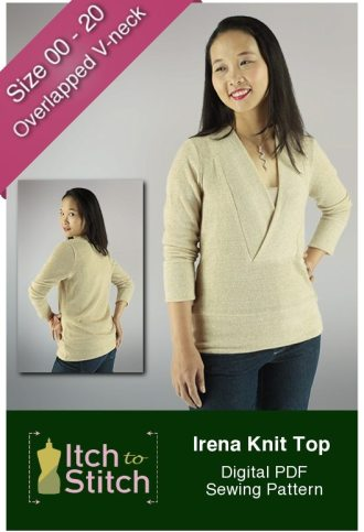 Irena Knit Top PDF Sewing Pattern