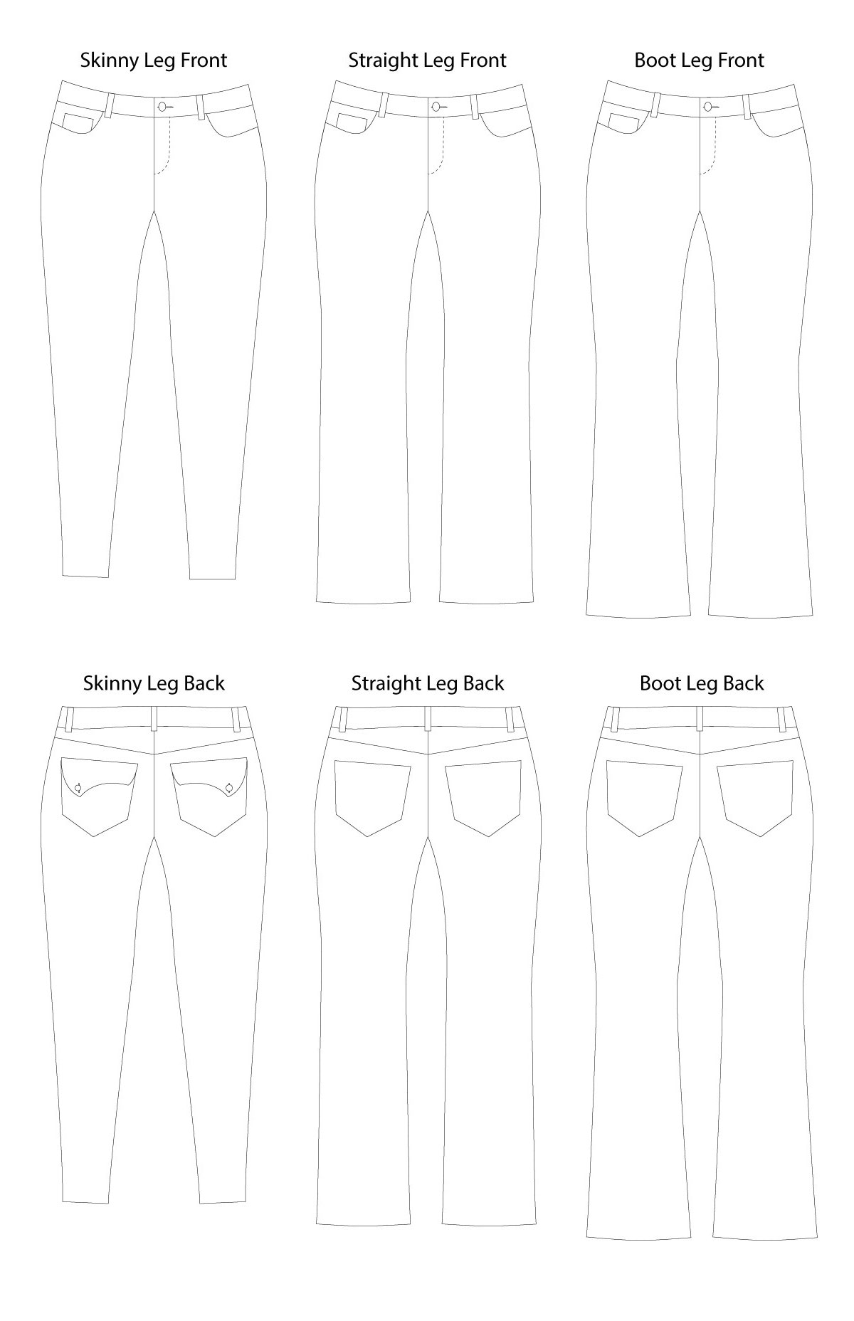 Liana Stretch Jeans Digital Sewing Pattern (PDF) - Itch To Stitch