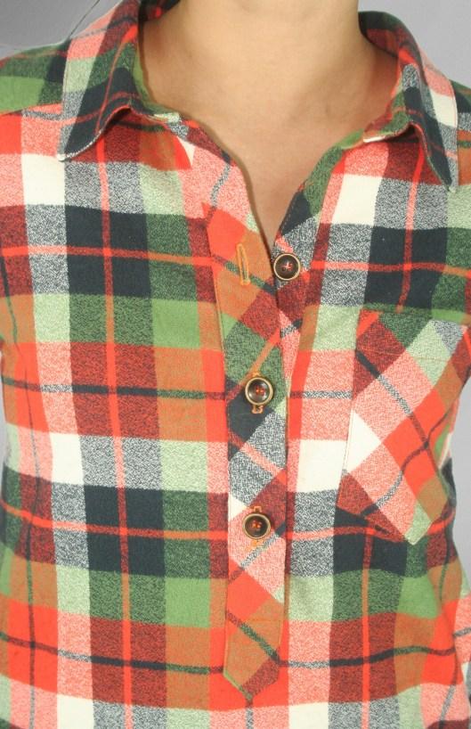 Mila Shirt PDF Sewing Pattern Front Close Up