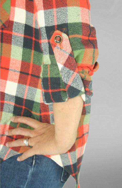 Mila Shirt PDF Sewing Pattern Tab Close Up