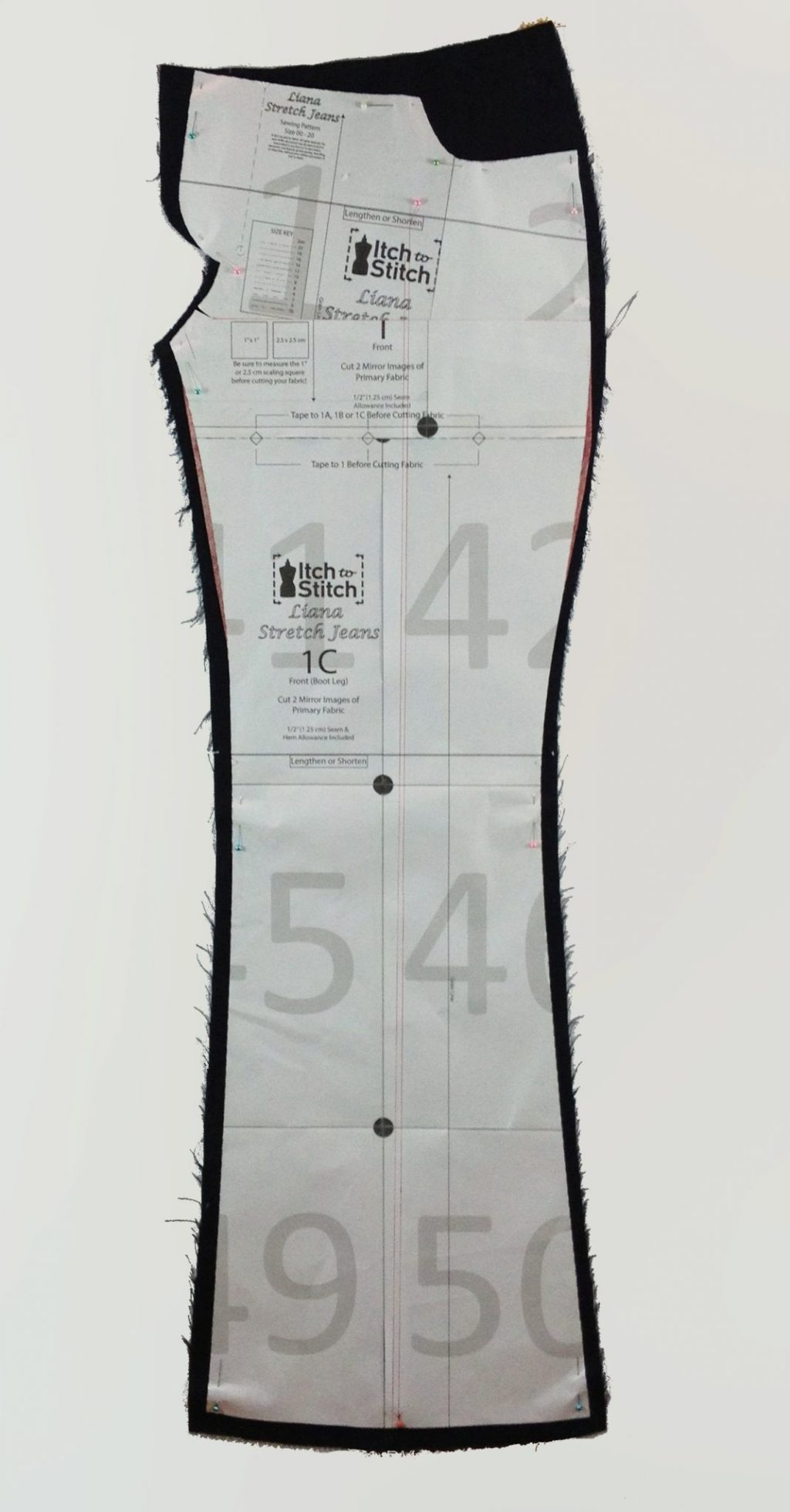 Liana Stretch Jeans Sewalong Day 6 Fit Pattern on fabric