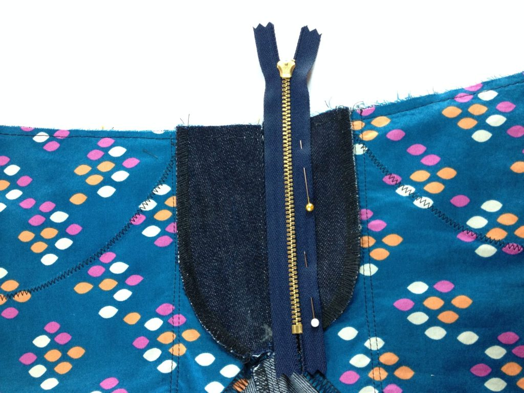 Liana Stretch Jeans Sewalong Day 8 Place zipper