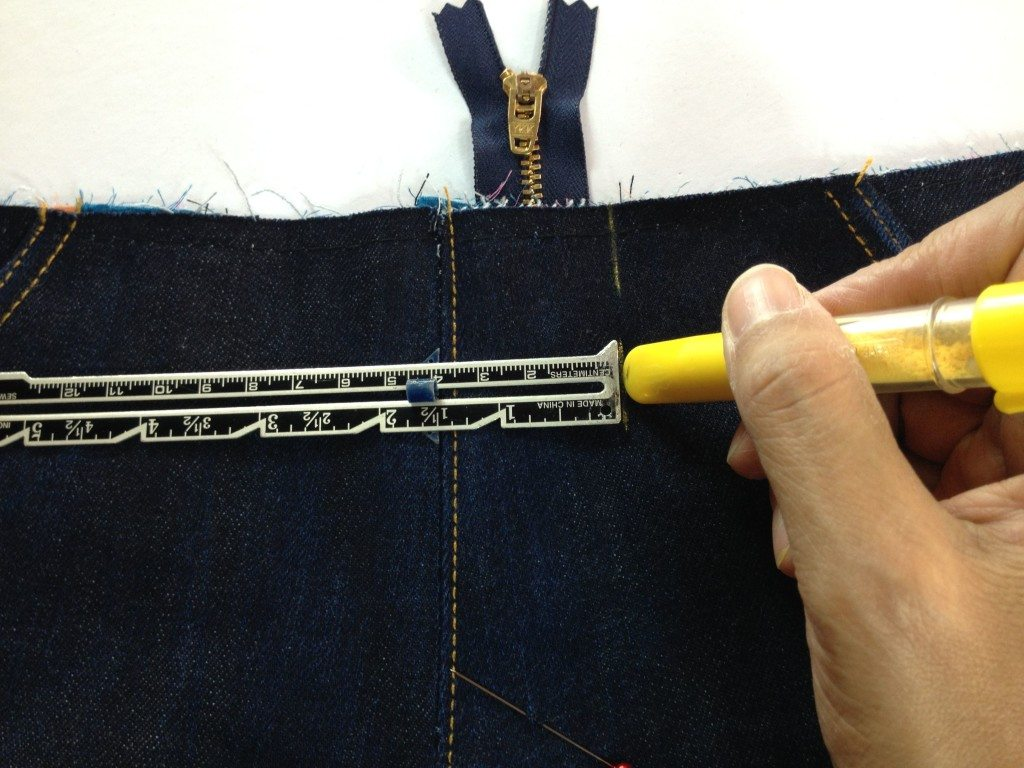 Liana Stretch Jeans Sewalong Day 8 Mark