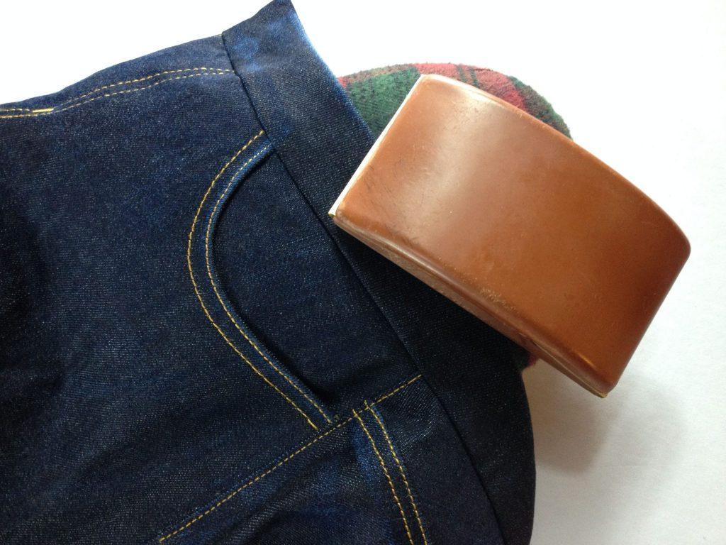 Liana Stretch Jeans Sewalong Day 9 Distress waistband