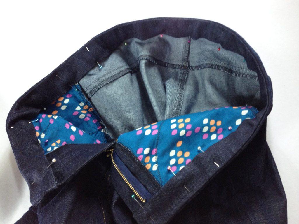 Liana Stretch Jeans Sewalong Day 9 Pin waistband