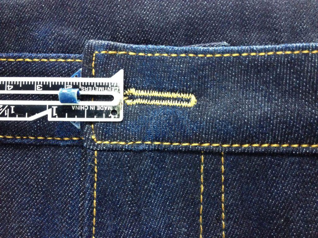 Liana Stretch Jeans Sewalong Day 9 Buttonhole