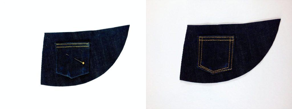 Liana Stretch Jeans Sewalong Day 7 coin pocket to yoke