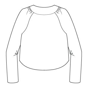 Itch to Stitch Salamanca Cropped Jacket Line Drawing Back