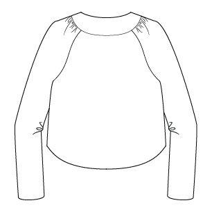 Itch to Stitch Salamanca Cropped Jacket Line Drawing Back