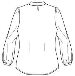 Itch to Stitch Zamora Blouse Line Drawing Back