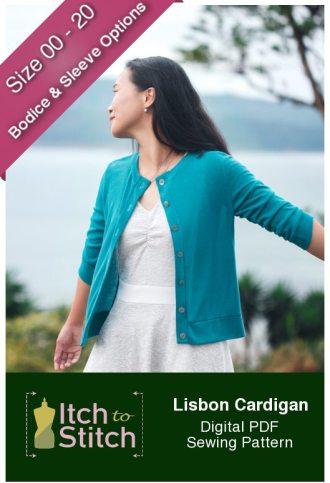 Itch to Stitch Lisbon Cardigan PDF Sewing Pattern