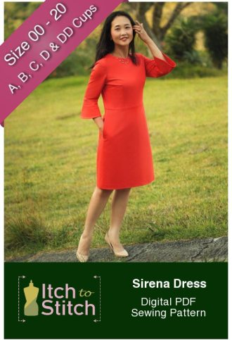 Itch to Stitch Sirena Dress PDF Sewing Pattern